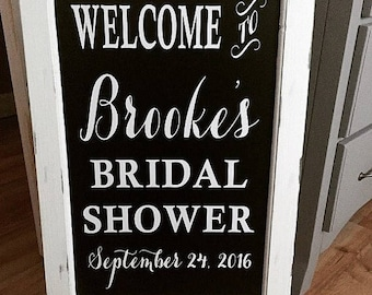 Chalkboard Easel - Bridal Shower Sign // Welcome Wedding Chalk Board Sign // Wedding Chalk Board Easel
