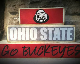 College and Pro Sports Team Ohio State Buckeyes Fan Stacker