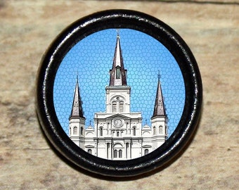New Orleans ST LOUIS CATHEDRAL Pendant or Brooch or Ring or Earrings or Tie Tack or Cuff Links