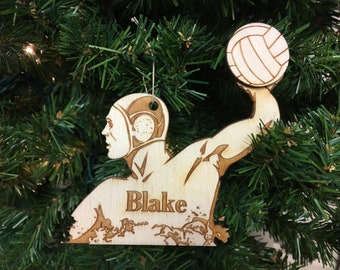 Water Polo #2 Personalized Christmas Ornament