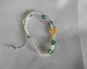 Butterfly shamballa bracelet
