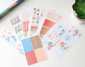 Winter Fun Weekly Planner Sticker Kit and Washi