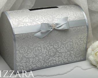 Wedding card box silver