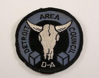 Vintage Detroit Area Council Sew On Boy Scout Patch