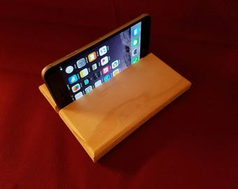 Simple wooden iPhone stand - Free shipping!