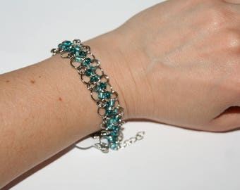Metal with turquoise Beads Bracelet
