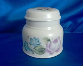Royal Doulton Lidded Pot 'Duberry', Lambeth Stoneware, Made in England 1974
