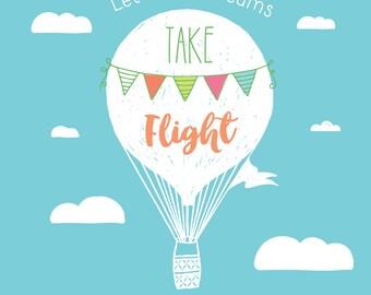 Let Your Dreams Take Flight Nursery Wall Art