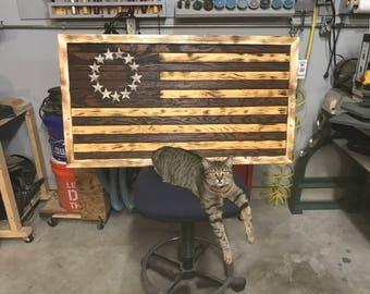 Betsy Ross Flag, 1792 first USA flag, Handmade USA Flag, Wooden USA Flag, Wood Flag