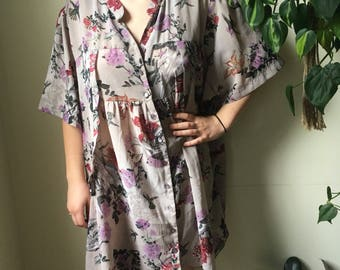 Oversized floral babydoll dress