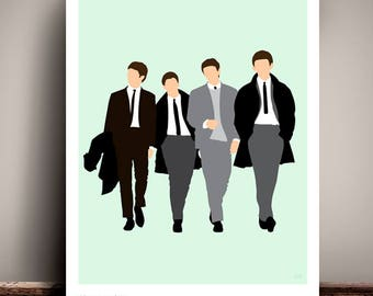 The Beatles // Minimalist  Poster // Unique A4 / A3 Art Print