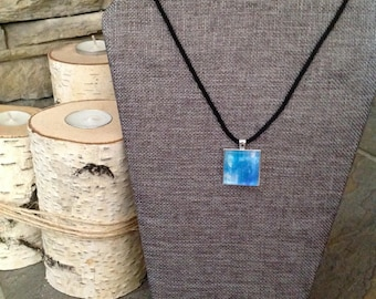 Watercolor Necklace Blue