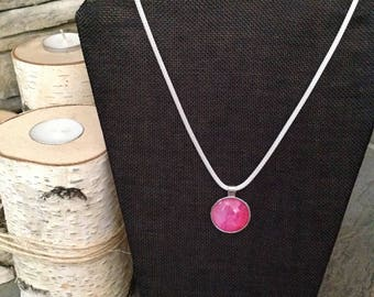 Watercolor Necklace/ Pink
