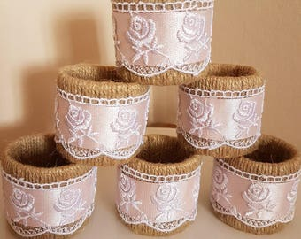 Wedding napkin rings, Jute napkin rings, Rustic table setting rings, Keepsake napkin Ring Country Wedding centerpiece napkin rings,wedding