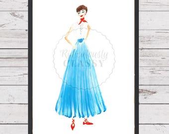 A Runaway Princess (Illustrated Print)