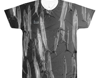 Raining Barracudas Sublimation men's crewneck t-shirt