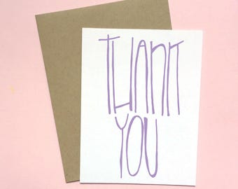 Thank You Card, Hand Lettered Card, Thanks a Bunch, Thank You Package, Thanks A Million, Thank You Stationery, Thanks Card