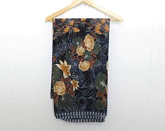 dark grey Saree, Indian Vintage Sari, Upcycled Saree, home decor, Decor Fabric Hand Woven Wrap, India Clothing, free shipping, decor curtain