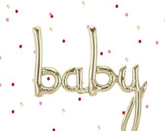 Baby Balloon script Foil Mylar Baby shower