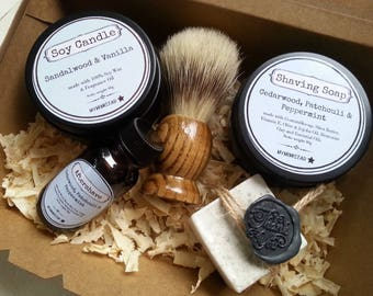 Mens Shaving Gift Box Set, Mens Grooming Shaving Kit, Pamper Gift Set, Mens shaving gift set, Pamper shaving gift set, Mens Grooming Pamper