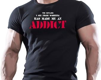 Addict Gym Bodybuilding T Shirt Best Workout Clothing Training Man UFC MMA …