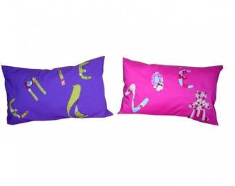 cushion birthstone 2, 3 and 4 letters - custom
