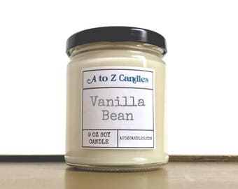 Vanilla Candle, Vanilla Bean Candle, Vanilla Scented Candle, Vanilla Bean, Soy Candles, Vanilla Soy Candle, Glass Jar Candle, Vanilla Scent