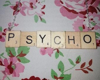 Statement Scrabble Letter Pendant - Psycho