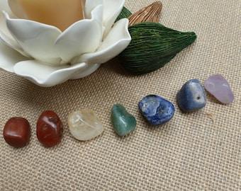 Medium Chakra Stone Set, 7 Chakra Stones, Meditation Stones, Crystal Therapy, Tumbled Stones, Chakra Crystal Set, InHer Inner Peace