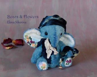 OOAK Artist teddy elephant. Liam.