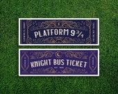 Long Bookmark | Travel Hogwarts Express Knight Bus Ticket Bookmark Quidditch Harry Potter Bookmark Hogwarts Houses