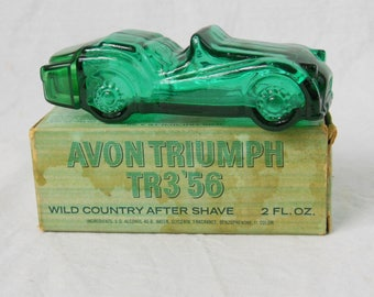 Vintage Avon Wild Country After Shave Triumph TR3, Wild Country After Shave