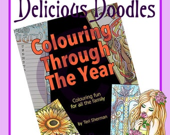 Colouring Through The Year - Full printable PDF Colouring Book