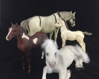 Lot of Vintage Toy Horses