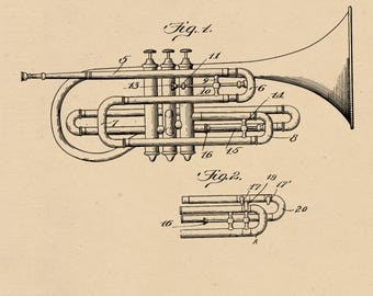 Wind Musical Instrument Patent #826473 dated July 17, 1906.