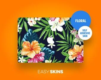 Floral Skin - MacBook Pro Skin   MacBook Air Sticker   MacBook Decal   Laptop Decal   Laptop Sticker   Easy Skins