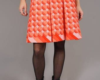60s Pleated Space Age Skirt