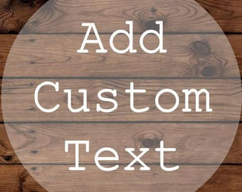 Add Custom Text