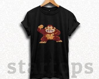 donkey kong nintendo atari wod shirt t-shirt tshirt clothing gamer japan 8-bit video game memoar best idea birthday boy son gift SM0204