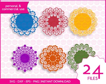 DOILIES | svg - dxf - eps - png | digital cutting files for cutting machines | clipart | vector files