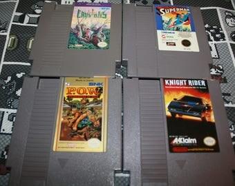 Nintendo Game - Crystalis - Superman - POW - Knight Rider - Original Nintendo