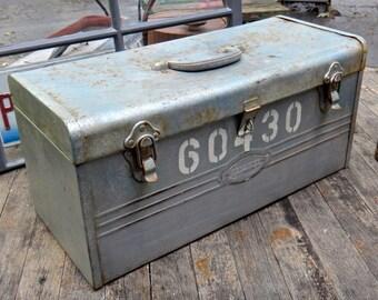 Toolbox, Craftsman Tool Box, 60430, Metal Box, Man Cave, Dude, Industrial, Silver, Steampunk, Tool Storage, Metal Tool Box, MaxsUniquities