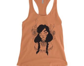 Native American Girl, Character Design Tank