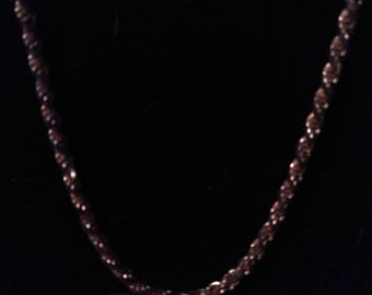 Hearty Men's cable style Sterling Silver necklace. 17 inches