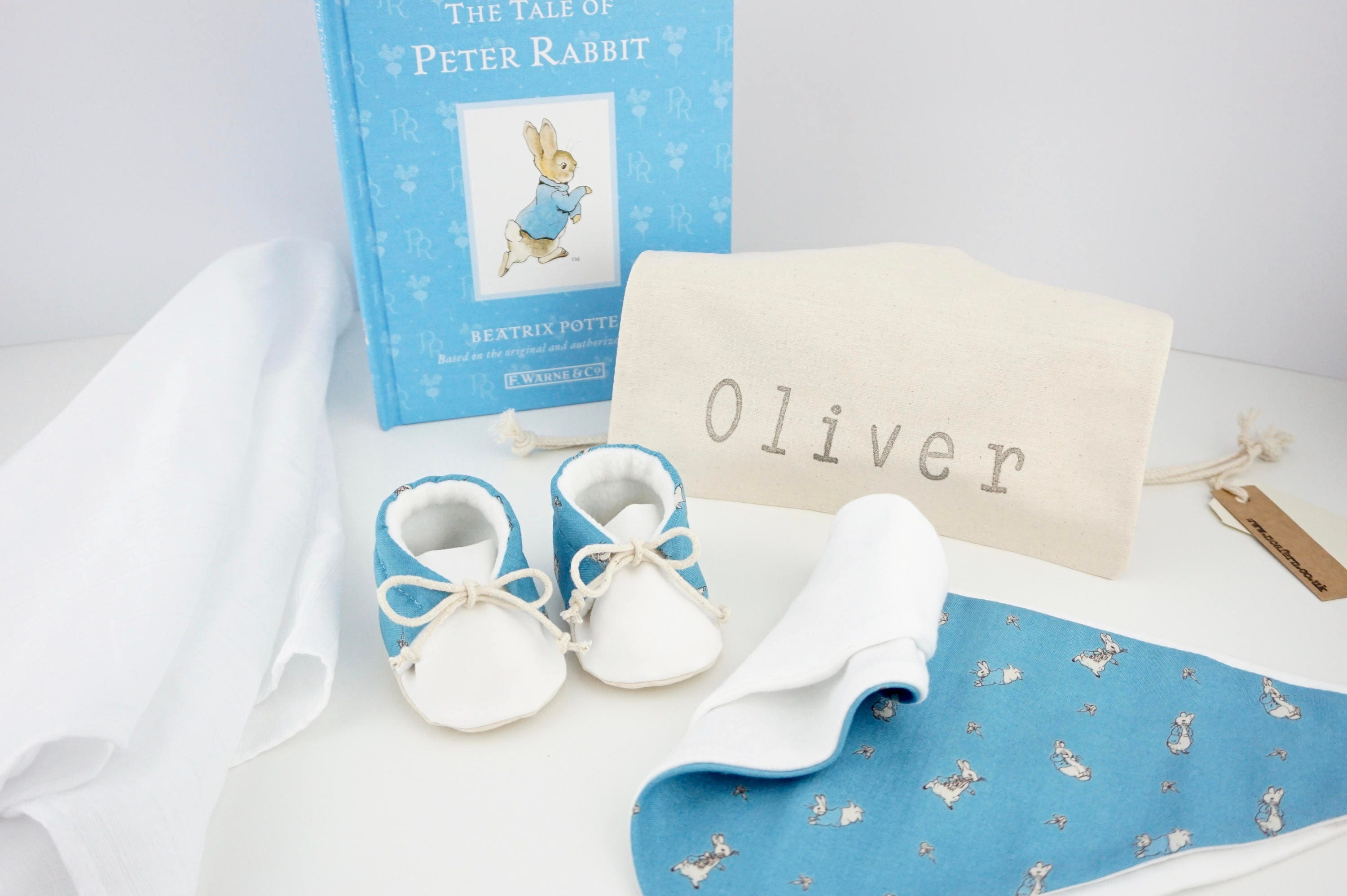 Peter Rabbit Baby Gift Sets : Peter rabbit baby gift set personalised