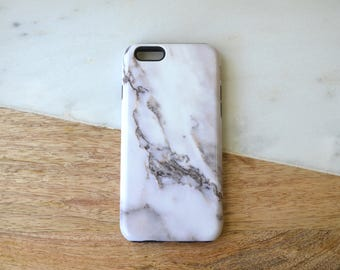 READY TO SHIP** iPhone 6/6S Tough Phone Case White Marble