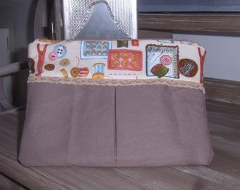 Pretty in shades of Brown cotton bag