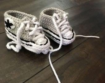 Crochet Baby Chuck Booties/ Converse Booties