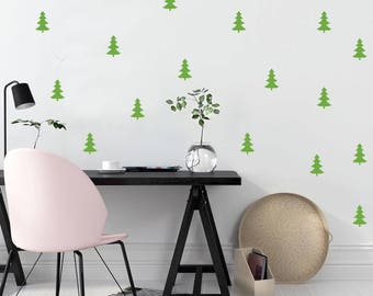 Nursery wall decal, Tree decals, wall decals, cute wall decal, green decals, nature decals, baby room decal, living room decal, window decal
