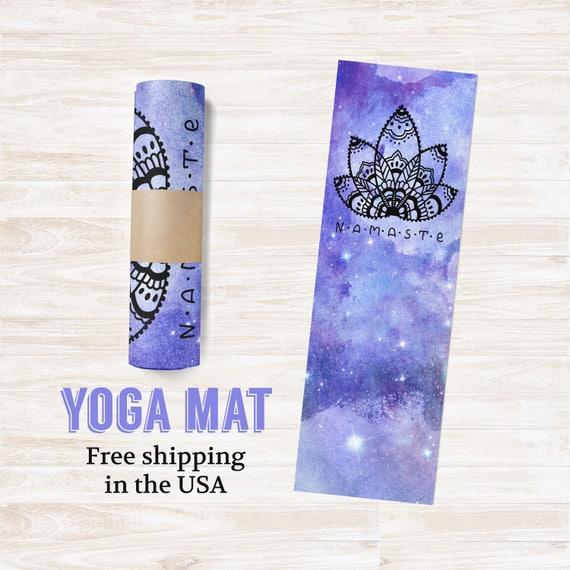 Yoga Mat Namaste Purple Galaxy - Free Shipping